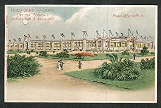 World's Fair St Louis 1904 Palace Agriculture undivided back light-up postcard