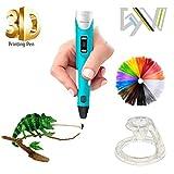 3D Drucker Stift Set,Stereoscopic Printing Pen Drawing 3D Pen mit LCD-Bildschirm und Geschwindigkeitseinstellungen for Kritzeln DIY Erstaunliche Geschenk für Kinder