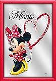 Empire Merchandising 671769 Disney, Minnie Mouse Heart, Espejo con decoración y Marco, Culto-Espejo, tamaño 20 x 30 cm