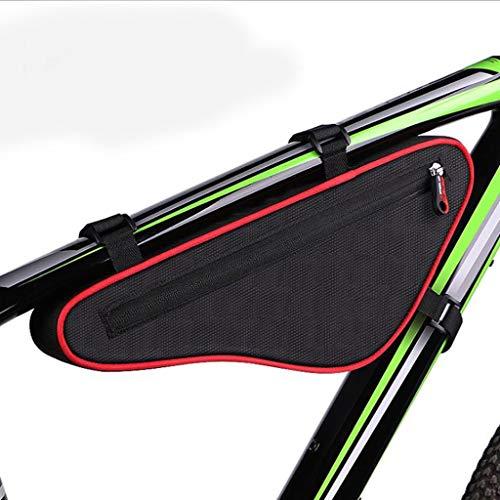 GTYMFH Bolsa de Bicicleta Bolsa de Haz Bicicleta, Bolso del triángulo de la viga Paquete de Bicicletas de montaña Frente Bolsa Bolsa de sillín El Tubo de la Bolsa Riding Equipment