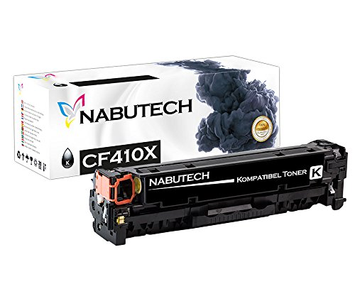 Nabutech toner als vervanging voor HP CF410X CF410A compatibel met HP Color Laserjet Pro M452nw, M452dn toner, Pro MFP M377dw, M477fnw toner, MFP M477fdn toner | Getest volgens ISO-norm 19798 |