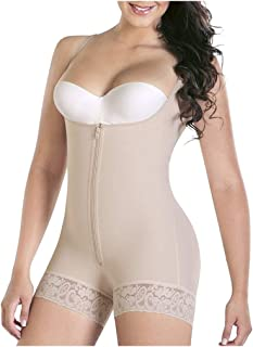 Fmystery Women Full Body Shaper Bodysuit Firm Control Shapewear Butt Lifter Corset AM