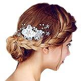 Bijoux cheveux diadème Peigne mariée mariage Jewerly perle fleur strass cristal
