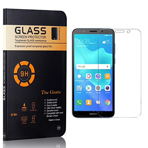 Great Deal! The Grafu Screen Protector for Huawei Y5 2018, Ultra Thin Tempered Glass Screen Protecto...