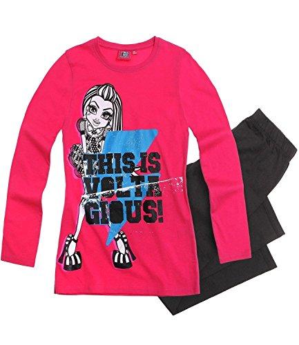 Monster High Conjunto de pijama de manga larga para niñas con parte superior oficial para niños