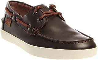 Mens Boat Shoes Keellson Premium 2 Dark Brown Leather