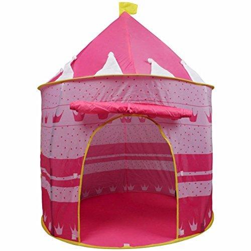 Tenda Ardisle rosa Corona Fata Principessa Tale Castello Apparire bambini con finestre e porta arrotolabile rosa ragazze al coperto o l'uso esterno giocattolo rosa ragazze Gioca tenda / teatro / Den