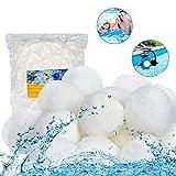 Moocuca Bola de Filtro para Piscina, 700g Filter Balls,Alternative para 25 KG Filtro de Arena,para Bolas del Filtro de Arena Piscina Filtrante(Blanco)