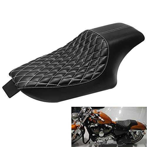 WINALL Motorcycle Driver Front Rear Passenger Seat Two Up Seat for Harley Sportster iron 883 1200 48 2004-2016 (Black)
