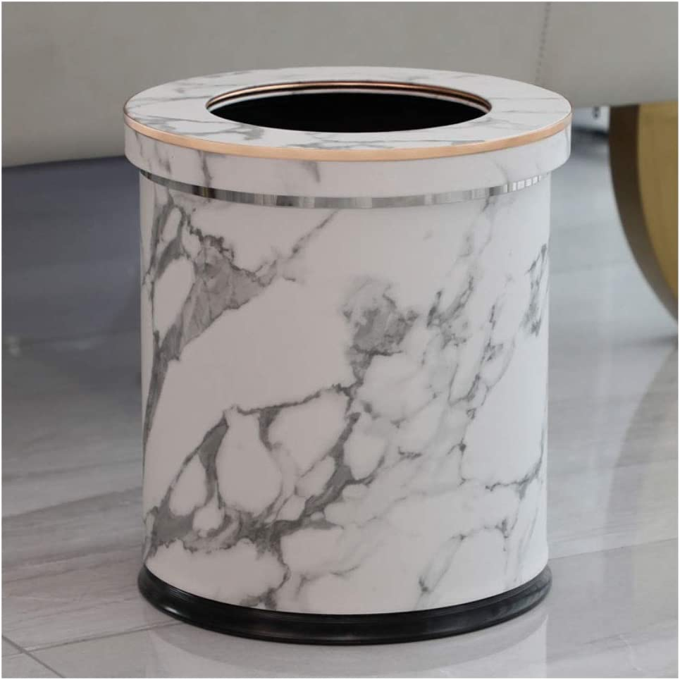 XIAOSAKU Trash can 10L Mail order cheap Round Lid Max 64% OFF Can Leather with Material