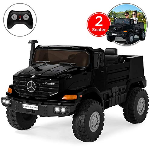 Best Choice Products Kids 24V 2-Seater Mercedes-Benz Ride On SUV Truck w/ Remote Control, 3.7 MPH Max, Lights - Black