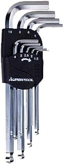 スーパー ロングボールポイント六角棒レンチ(9本組)1.5~10mm HKLB9S