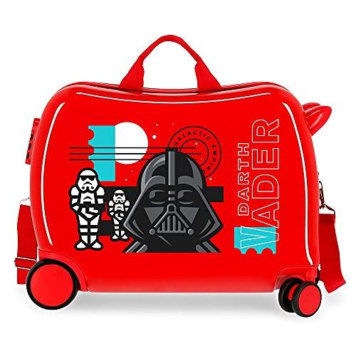 Star Wars Galactic Empire Maleta Infantil Roja 50x38x20 cms Rígida ABS Cierre de combinación Lateral 34L 1,8 kgs 4 Ruedas Equipaje de Mano