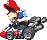 6 Inch Young Boy Kid Super Mario Kart Wii Bros Brothers Removable Wall Decal Sticker Art Nintendo 64 SNES Home Kids Room Decor Decoration - 6 by 4 1/2 inches