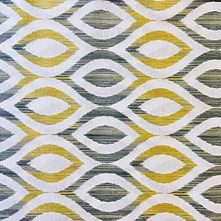 comprar comparacion Tela por metros de loneta estampada - Ancho 280 cm - Largo a elección de 50 en 50 cm | Geométrico - Amarillo, gris