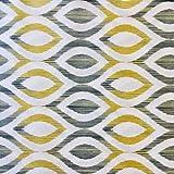 Tela de loneta estampada digital - Retal de 100 cm largo x 280 cm ancho | Geométrico - Amarillo, gris ─ 1 metro