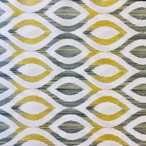Tela por metros de loneta estampada - Ancho 280 cm - Largo a elección de 50 en 50 cm   Geométrico - Amarillo, gris