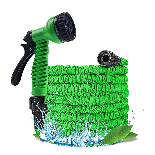 Festnight 75FT / 23M Gartenschlauch Upgrade Erweiterbarer magischer flexibler Wasserschlauch Kunststoffschläuche Rohr mit erweiterbarem Schlauch 7 Funktion Sprühdüse Dichtheit gegen Bewässerung 3/4