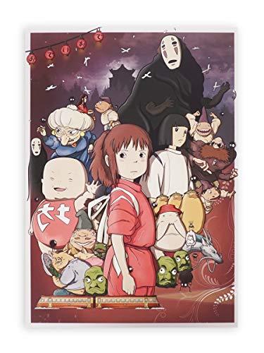 CoolChange Hochwertiges Chihiros Reise ins Zauberland Wandbild auf Hartschaumplatte | Poster 30x42cm