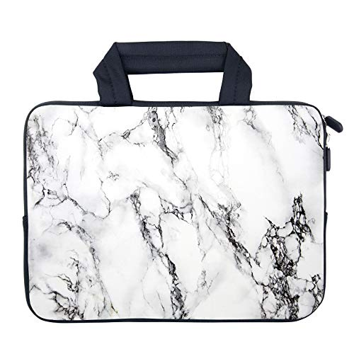 AMARY 12.1' 12.5 inch MacBook air Sleeve Neoprene Notebook Laptop case Chromebook Sleeve Chromebook Sleeve 11.6' Fit Apple MacBook Air HP DELL Lenovo Asus Samsung (Marble)