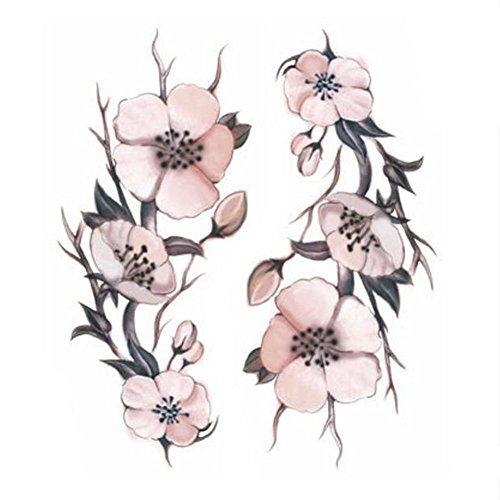 Creative/hommes sexy et femmes tatouage temporaire étanche Stickers Fleurs