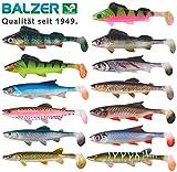 Balzer Shirasu Clone Shad - Gummifisch zum Spinnfischen auf Hechte, Zander & Barsche, Gummiköder, Gummishad, Hechtköder, Softbait, Länge:6.5cm, Farbe:BrTro