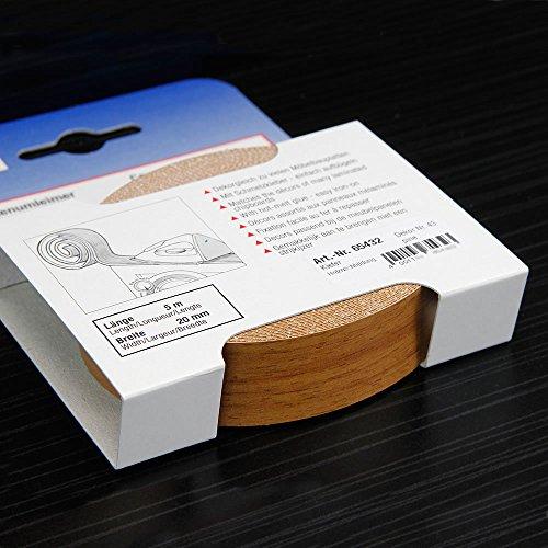 Kantenumleimer für Möbelbauplatten und Regalbretter Kiefer 5 m x 20 mm
