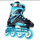 WuJiPeng Zapatillas De Skate Tyrant Gold Patines Adultos para Hombres Y Mujeres Adultos Patines De Ruedas Zapatos En Línea para Hombres Y Mujeres,Blue-44