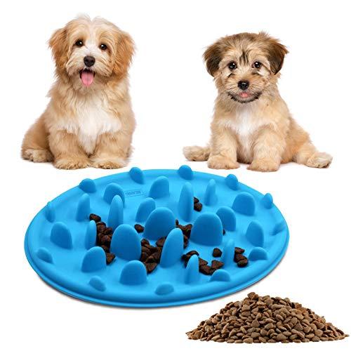 BEANKI Comederos para Perros Gato, Bol de Alimentación Lenta, Silicona Lenta Feeder Cuenco, Mascota Comedero Interactivo, Alimentador Lento para Mascotas Ayudar a la Digestión, Mejorar la Inte