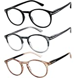 Success Eyewear Reading Glasses Set of 3 Great Value Quality Readers Spring Hinge Glasses for Reading Men and Women +3