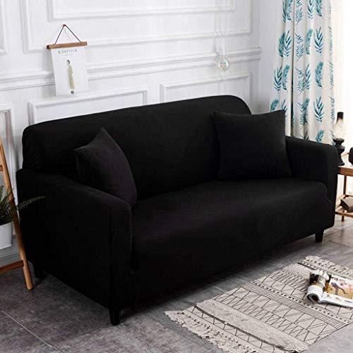 Jonist Funda de sofá con Fuerza elástica Todo Incluido, Protector de Muebles de poliéster Spandex Elegante duradero-negro-145-185cm