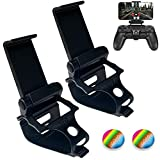 2 Pack PS4 Controller Phone Clip Holder, Foldable Mobile Phone Stand Mount Clamp Bracket for PS4 Playstation 4 DualShock 4 Wireless Controller, Compatible with PS4/ PS4 Slim/ PS4 Pro Controllers