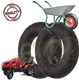 ECA08DRD - Par de 2 cámaras de aire 3.50/4.00-8 - Válvula TR13 para neumáticos de ruedas y carretillas de tractor de césped y jardín