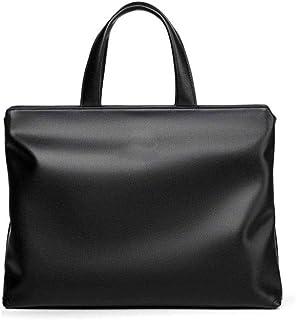 Gmddpjfl Mens Leather Messenger Bag Business حقائب عمل، حقيبة كتف مختلطة كبيرة قابلة للتوسعة 14 بوصة كمبيوتر حقيبة ظهر للر...