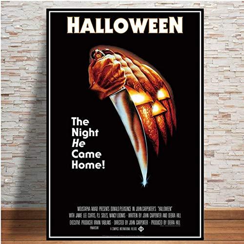Regalo Halloween Michael Myers Classico Film Horror Collage Poster Stampe Pittura Arte Tela Immagini a parete Living Room Decor 42x60CM Senza Cornice 5