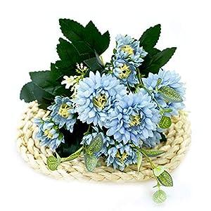 TRRT Fake Plants Artificial Silk Flowers, Decoration Camellia Artificial Daisy Wedding Home DIY Fake Flower