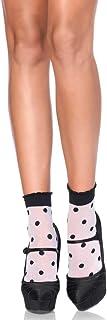Leg Avenue mujeres par de calcetines puntos negro blanco talla única