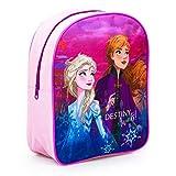 Zainetto Zaino Scuola Elementare Asilo Medie Bambina Ragazze Disney Frozen 2 Elsa & Anna 'Destiny Awaits!' Multicolor 30 x 26 x 10 cm