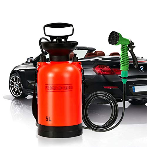 Outdoor-Campingdusche Portable, Bad Multi-Function Sprayer Travel Dusche Wasser-Wash Small Sprayer Travel Wasser-Tank,8L