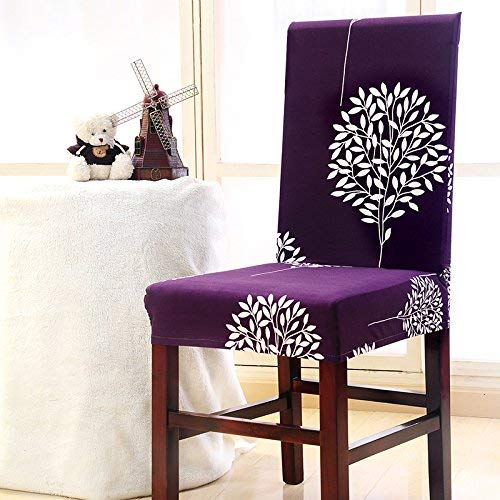 Emmala 6 Stretch Dining Chair Cover Anti Sporco Lavabile Fiori Unico Poltrona Strechhusse Screen Protector per Hotel Restaurant Dining Room Type A (Color : Type_A, Size : Size)