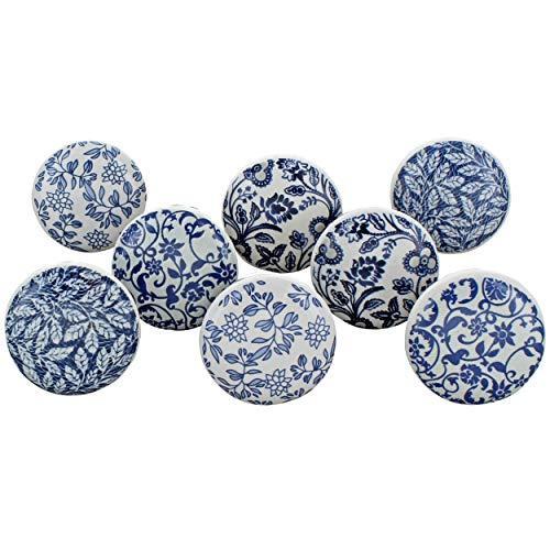 G Decor - Juego de 8 pomos de cerámica para puerta, estilo vintage, estilo Shabby Chic