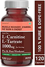 Carbamide Forte L-Carnitine L-Tartrate 1000mg Per Serving | Weight Loss, Fat Burner, Muscle Recovery, Pre & Post Workout Supplement – 120 Veg Capsules