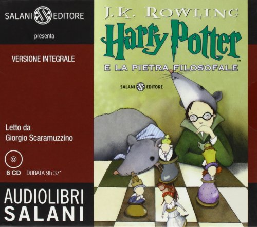 Bd.1 : Harry Potter e la pietra filosofale, 8 Audio-CDs, Neuausgabe; Harry Potter und der Stein der Weisen, 8 Audio-CDs, italie