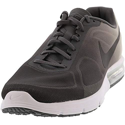 Nike Herren Air Max Sequent Leichtathletik-Schuh, Mehrfarbig, Dunkelgrau, Schwarz, Platin (Drk Gry/Blck/Pr Pltnm/MTLC PLT), 42 EU
