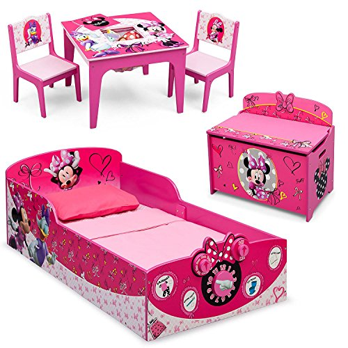 Delta Children Minnie Mouse Deluxe 3-Piece Toddler Bedroom Set