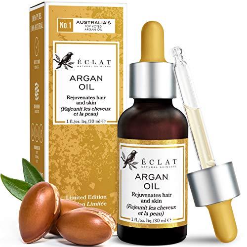 𝗗𝗘𝗥 𝗦𝗜𝗘𝗚𝗘𝗥 𝟮𝟬𝟮𝟬* 𝗕𝗜𝗢 Arganöl - 100% Rein/Unraffiniert/Extra-Nativ/Vegan - Hand-geerntet & Kaltgepresst in Marokko für Haut/Haar/Nägel - GMP-zertifiziert/Von Dermatologen Empfohlen