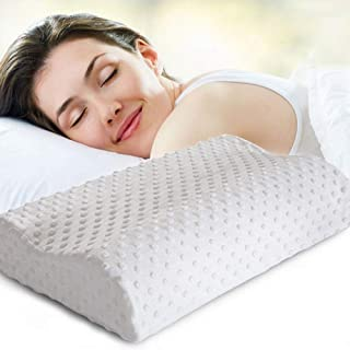 Ardith Cervical Contour Memory Foam Pillow,Orthopedic Pillow for Neck Pain,Orthopedic Contour Pillow Support for Back,Stom...