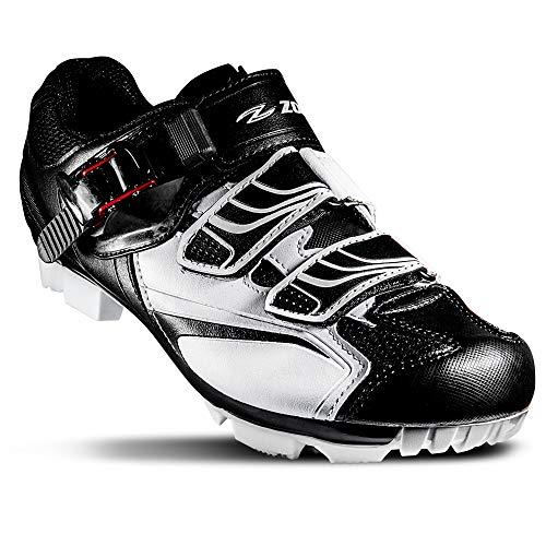 Zol MTB Zapatillas para ciclismo indoor, talla 40, color blanco