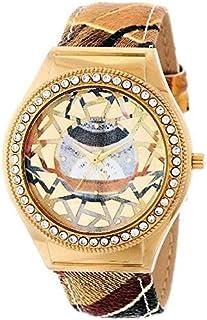 ساعة غاتينوني للنساء موزاييك مطلية بالايون ستانلس ستيل سوارفيسكي كريستال