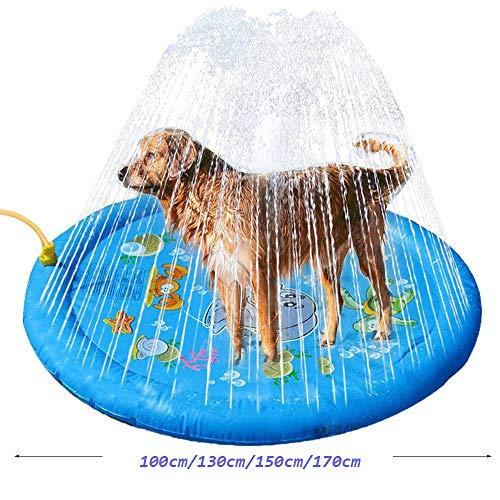 Delux Hundepool 170cm XXL - Faltbarer Sommer Schwimmbecken tragbare und langlebige Hundebadewanne im Freien (4 Größen),100cm